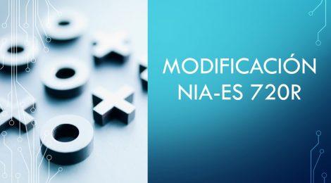 MODIFICACIÓN DE LA NIA-ES 720R (2020)