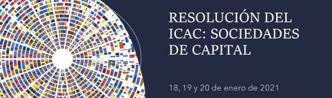 RESOLUCIÓN DEL ICAC: SOCIEDADES DE CAPITAL