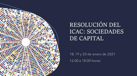 RESOLUCIÓN DEL ICAC: SOCIEDADES DE CAPITAL